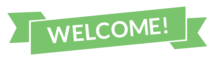 Welcome-Text-In-Green-Background